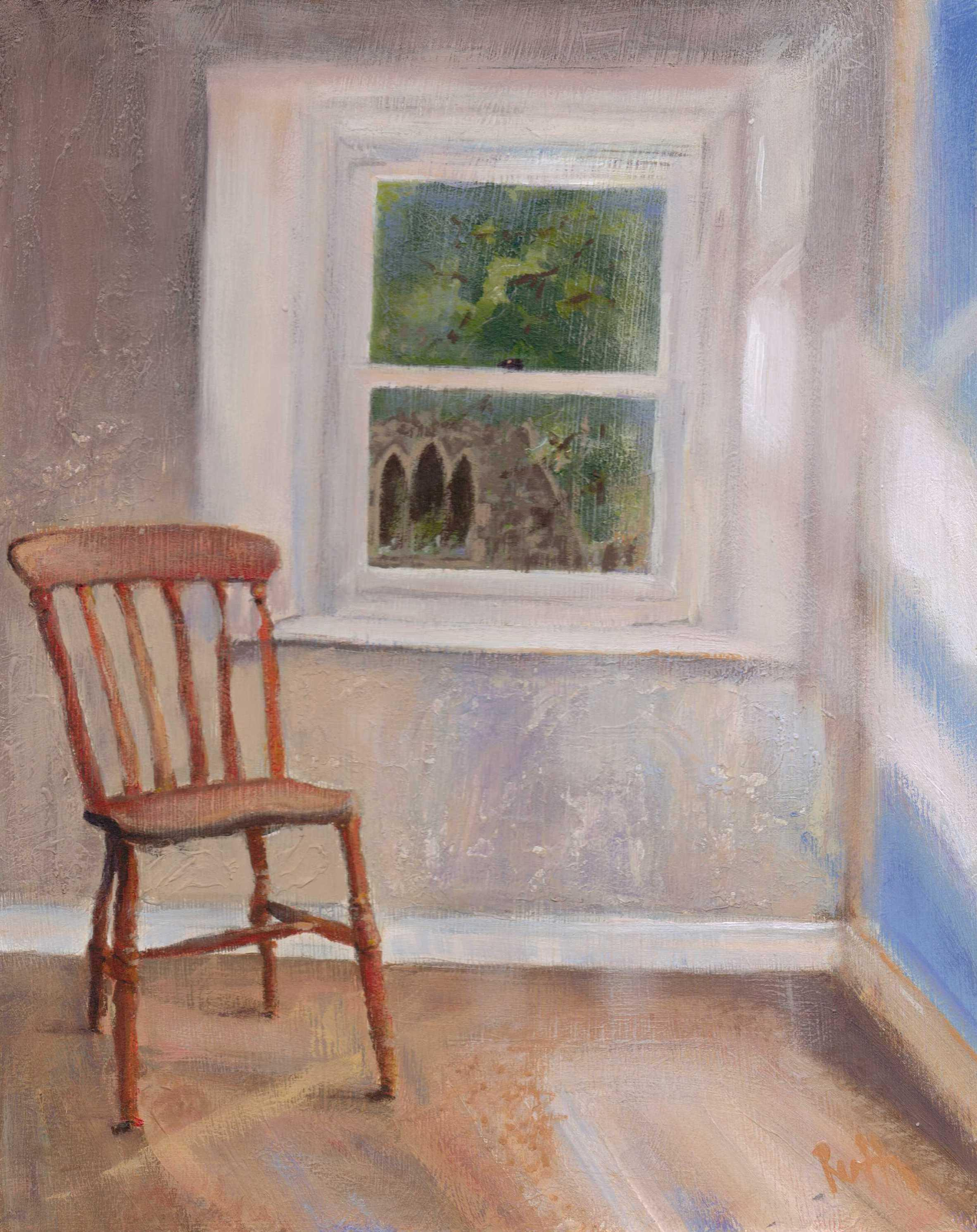 Ruth Gray Chair in window